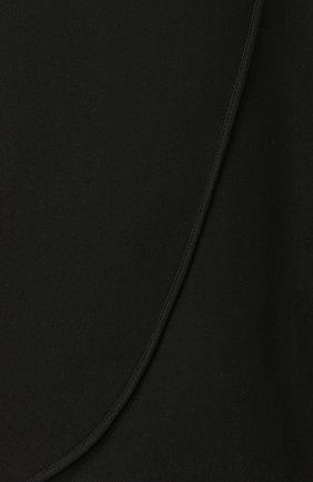 Женская однотонная юбка-миди из шелка VALENTINO черного цвета, арт. QB0RA4711MM | Фото 5