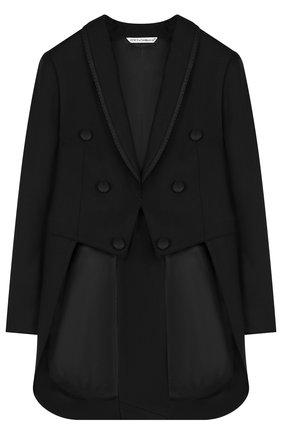 Шерстяной пиджак с длинными фалдами | Фото №1