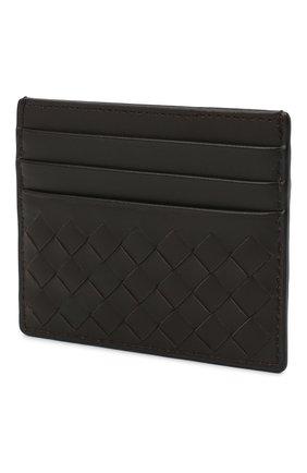 Женский кожаный футляр для кредитных карт с плетением intrecciato BOTTEGA VENETA темно-коричневого цвета, арт. 162150/V001N | Фото 2