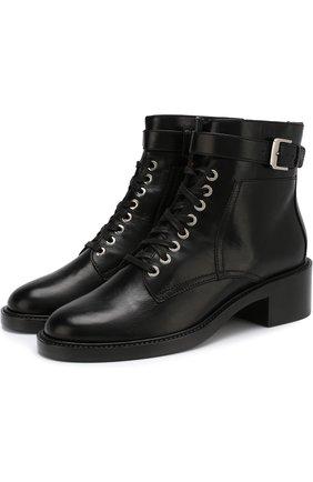 Кожаные ботинки Solene на шнуровке Laurence Dacade белые | Фото №1