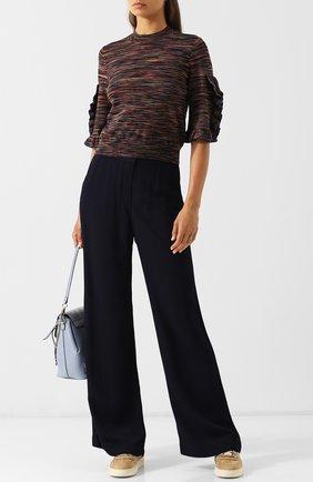 Пуловер с круглым вырезом и укороченным рукавом See by Chloé разноцветный   Фото №1