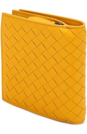 Кожаный кошелек с плетением intrecciato | Фото №2