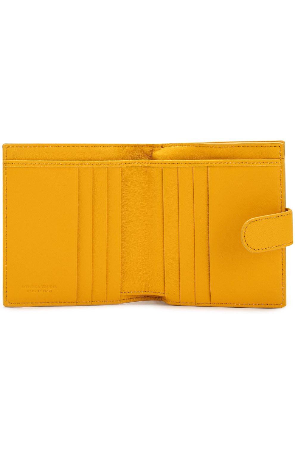 Кожаный кошелек с плетением intrecciato | Фото №3