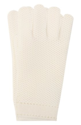 Кашемировые перчатки фактурной вязки   Фото №1