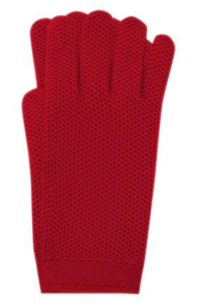 Женские кашемировые перчатки LORO PIANA красного цвета, арт. FAA1252 | Фото 1 (Материал: Шерсть, Кашемир; Статус проверки: Проверено, Проверена категория)