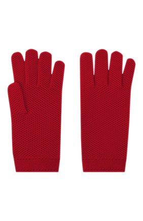 Женские кашемировые перчатки LORO PIANA красного цвета, арт. FAA1252 | Фото 2 (Материал: Шерсть, Кашемир; Статус проверки: Проверено, Проверена категория)