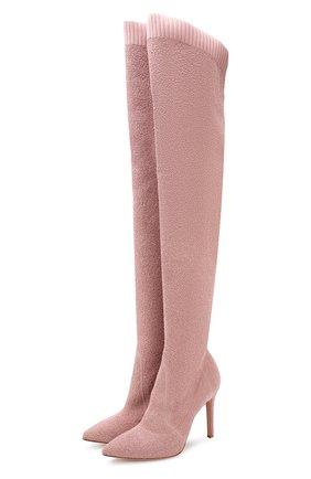 Текстильные ботфорты Fiona 105 на шпильке | Фото №1