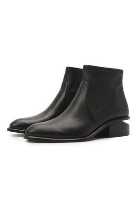 Женские кожаные ботильоны kori на фигурном каблуке ALEXANDER WANG черного цвета, арт. 3028T0051L | Фото 1