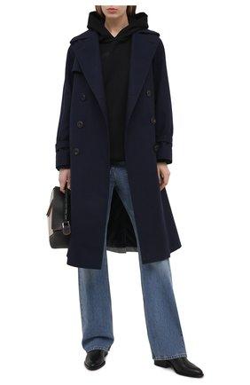 Женские кожаные ботильоны kori на фигурном каблуке ALEXANDER WANG черного цвета, арт. 3028T0051L | Фото 2