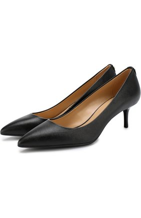 Кожаные туфли Flex на каблуке kitten heel | Фото №1