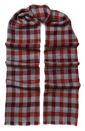 Мужской кашемировый шарф в клетку LORO PIANA красного цвета, арт. FAI3346 | Фото 1