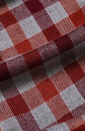 Мужской кашемировый шарф в клетку LORO PIANA красного цвета, арт. FAI3346 | Фото 2