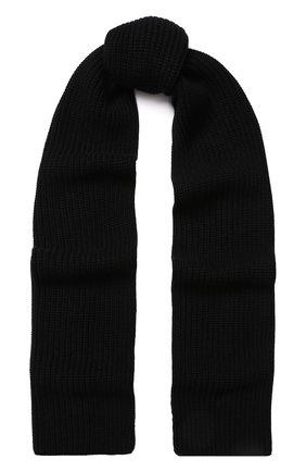 Мужской кашемировый шарф DOLCE & GABBANA черного цвета, арт. GX301T/JAWEZ | Фото 1