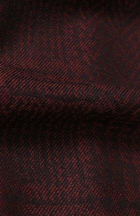 Шерстяной шарф с бахромой   Фото №2