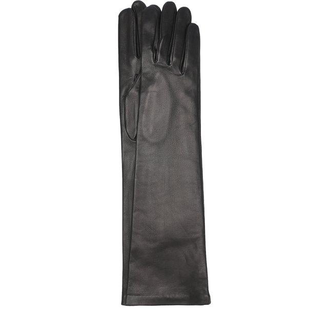 Удлиненные кожаные перчатки Agnelle