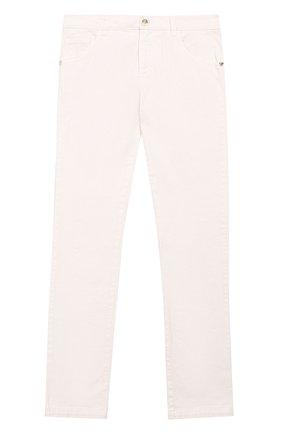 Детские джинсы прямого кроя Young Versace белого цвета | Фото №1