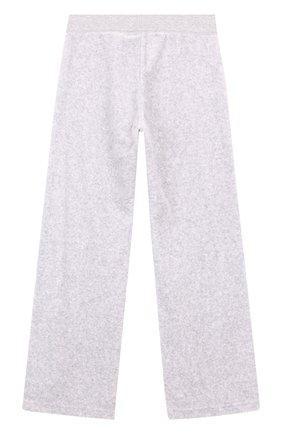 Хлопковые брюки свободного кроя Juicy Couture серого цвета | Фото №1