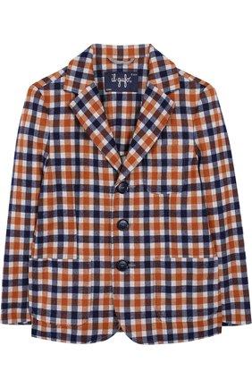 Однобортный пиджак джерси с принтом | Фото №1