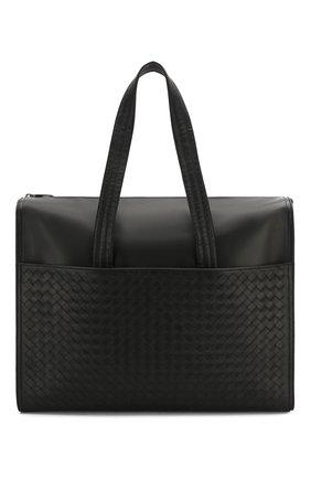Мужская кожаная сумка BOTTEGA VENETA черного цвета, арт. 521011/VQ131 | Фото 1