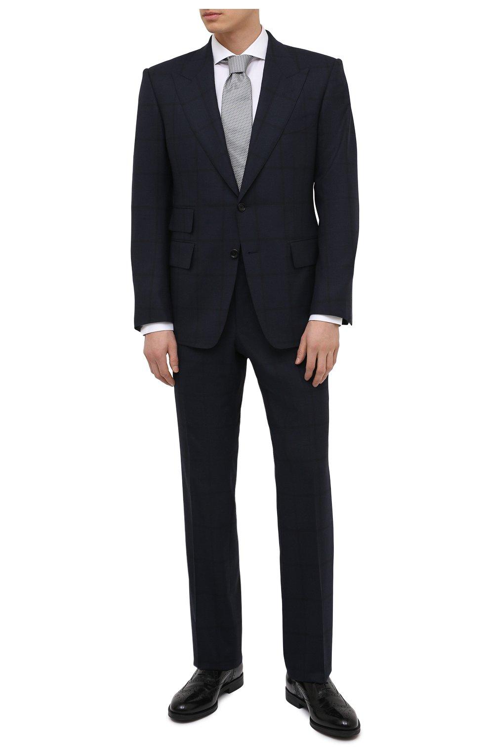Мужские кожаные оксфорды GIORGIO ARMANI черного цвета, арт. X2C590/XF294 | Фото 2