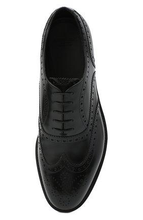 Мужские кожаные оксфорды GIORGIO ARMANI черного цвета, арт. X2C590/XF294 | Фото 5