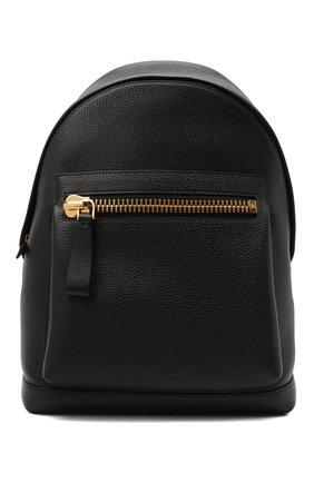 Кожаный рюкзак с внешним карманом | Фото №1