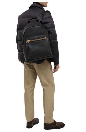 Мужской кожаный рюкзак с внешним карманом TOM FORD черного цвета, арт. H0250T-CG8 | Фото 2