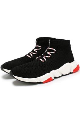 Текстильные кроссовки Speed Trainer на шнуровке | Фото №1