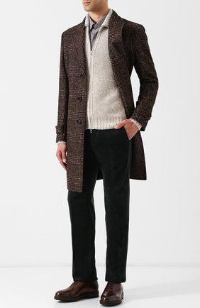 Классические кожаные оксфорды H`D`S`N Baracco коричневые | Фото №1