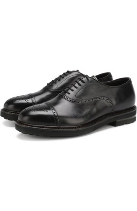 Классические кожаные оксфорды H`D`S`N Baracco черные | Фото №1