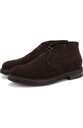 Мужские замшевые ботинки H`D`S`N BARACCO коричневого цвета, арт. 58502.2* | Фото 1