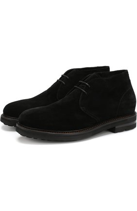 Мужские замшевые ботинки с внутренней отделкой из овчины H`D`S`N BARACCO черного цвета, арт. 58502.3* | Фото 1