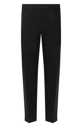 Мужской брюки из смеси хлопка и шерсти DOLCE & GABBANA серого цвета, арт. GY6FET/FUCDJ | Фото 1