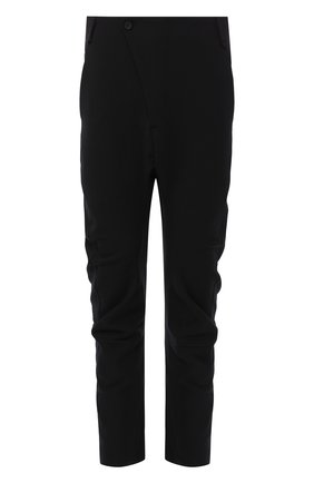 Мужской брюки прямого кроя с заниженной линией шага MASNADA черного цвета, арт. M2117 | Фото 1