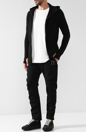 Мужской брюки прямого кроя с заниженной линией шага MASNADA черного цвета, арт. M2117 | Фото 2