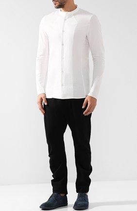 Шерстяные брюки прямого кроя с драпировкой Masnada черные | Фото №1