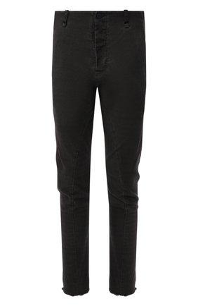 Хлопковые брюки зауженного кроя  Masnada темно-серые | Фото №1