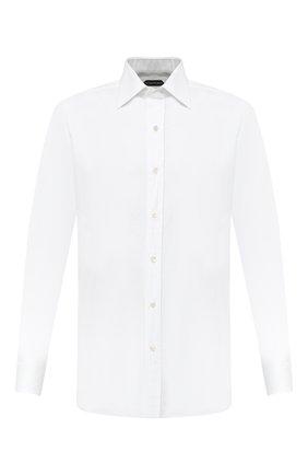 Мужская хлопковая сорочка с итальянским воротником TOM FORD белого цвета, арт. 4FT190/94C1JE | Фото 1