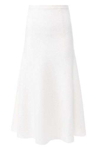 Однотонная юбка-миди из шерсти