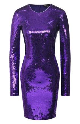 Женское платье с пайетками TOM FORD фиолетового цвета, арт. ABJ098-FAE360 | Фото 1