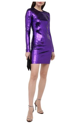 Женское платье с пайетками TOM FORD фиолетового цвета, арт. ABJ098-FAE360 | Фото 2
