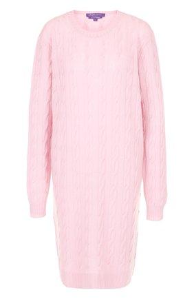 Вязаное кашемировое платье с круглым вырезом | Фото №1