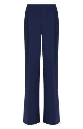 Однотонные расклешенные брюки со стрелками MICHAEL Michael Kors синие   Фото №1