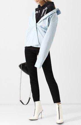 Хлопковый пуловер с капюшоном Act n1 разноцветный   Фото №1