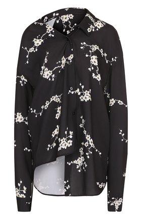 Женская блуза асимметричного кроя с принтом Act n1, цвет черный, арт. PFT1807 в ЦУМ   Фото №1