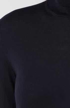 Женская кашемировая водолазка RALPH LAUREN синего цвета, арт. 290615195 | Фото 5