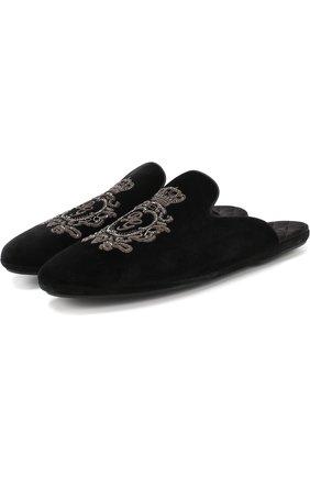 Домашние туфли Young Pope с вышивкой | Фото №1