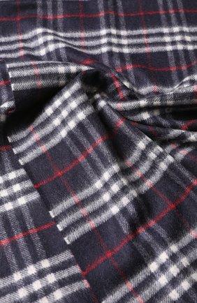 Кашемировый шарф в клетку с бахромой | Фото №2