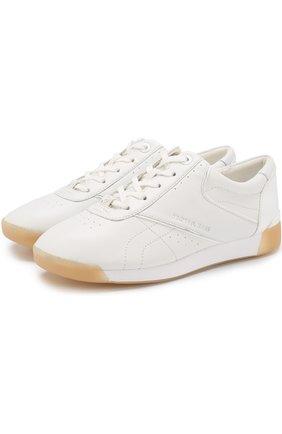 Кожаные кеды Addie на шнуровке MICHAEL Michael Kors белые   Фото №1