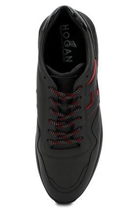 Кожаные кроссовки на шнуровке | Фото №5
